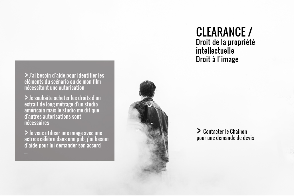 Le chainon manquant, clearance